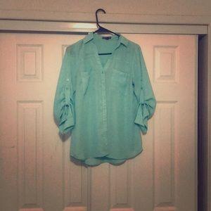 Express sheer collar shirt